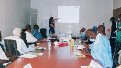Photo de Réunion de Restitution des Résultats de l'Evaluation du Projet PACAO à la Mairie de Tevragh Zeina